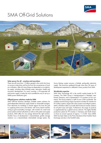 SMA Off-Grid Solutions