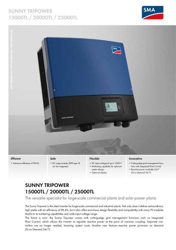 Sunny Tripower 15000TL / 20000TL / 25000TL
