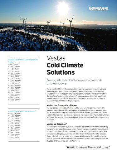 Vestas Cold Climate Solutions