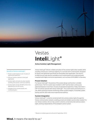 Vestas InteliLight®