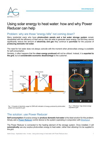 Astrel Group - Application note - 4-noks - Using solar energy to heat water with Power Reducer