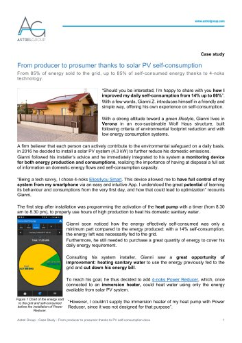 Astrel Group - Case Study - 4-noks - From producer to prosumer thanks to PV self-consumption