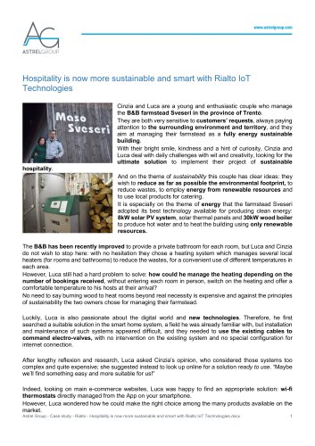 Astrel Group - Case study - Rialto - Hospitality is now more sustainable and smart with Rialto IoT Technologies
