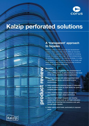 Kalzip perforated solutions brochure