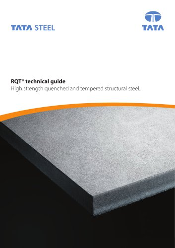RQT technical guide - High strength quenched and tempered structural steel.