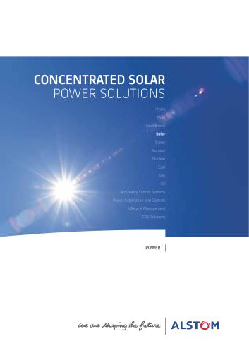 CONCENTRATED SOLAR POWER SOLUTIONS