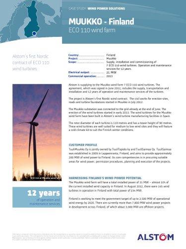 MUUKKO - Finland : ECO 110 wind farm