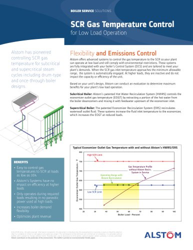SCR Gas Temperature Control for Low Load Operation