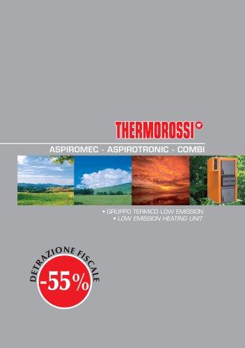 Aspiromec - Aspirotronic - Combi Inverted flame log boilers