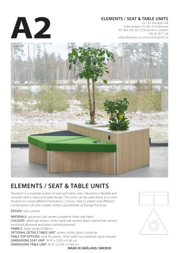 ELEMENTS / SEAT & TABLE UNITS