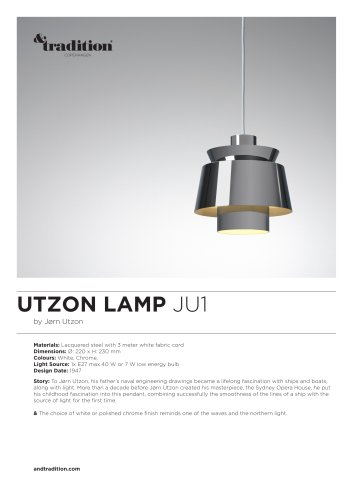 UTZON LAMP JU1 info