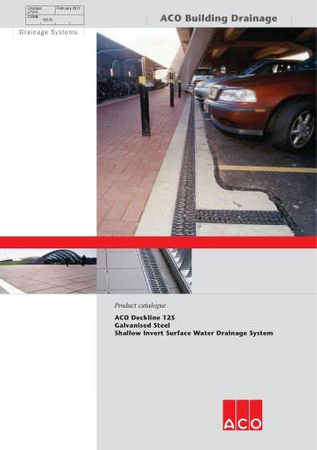 Deckline 125 Galvanised Steel Shallow Invert Drainage System