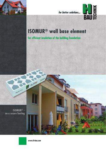 ISOMUR® PLUS WALL BASE ELEMENTS