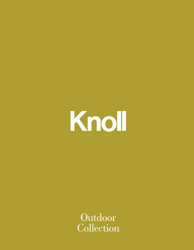 KnollStudio Outdoor Catalogue 2016