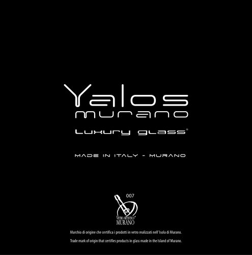Yalos murano luxury glass