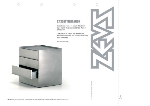 Cassettiera inox