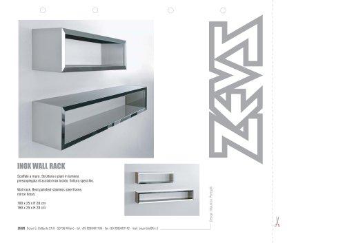 Inox wall rack