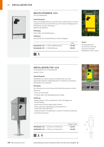 ABES Abfallbehälter 532