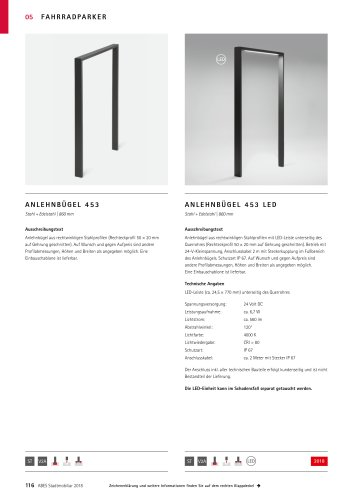 ABES Anlehnbügel 453 (LED)