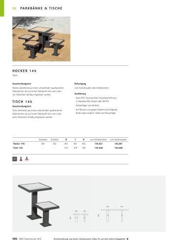 ABES Hocker und Tisch 145
