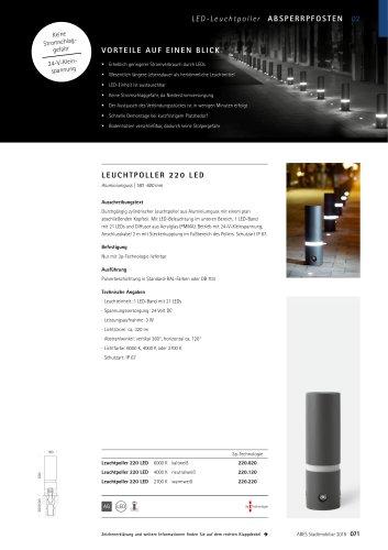 ABES Leuchtpoller 220 LED