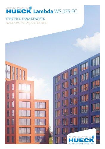 HUECK Lambda WS 075 FC - Fenster in Fassadenoptik