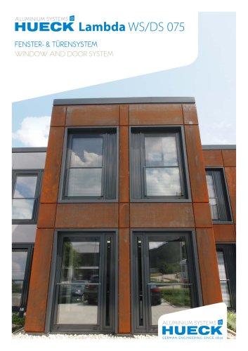 HUECK Lambda WS/DS 075 - Fenster- und Türensystem