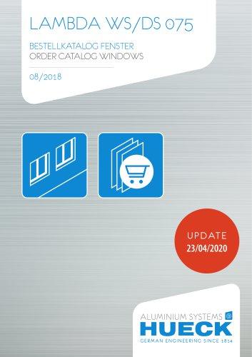 LAMBDA WS/DS 075 ORDER CATALOG WINDOWS