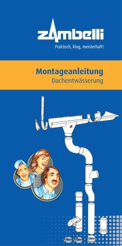Montageanleitung Dachentwässerung