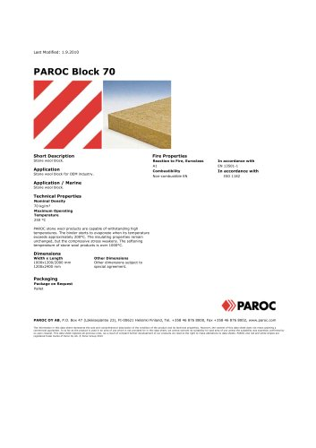 PAROC BLOCK 70