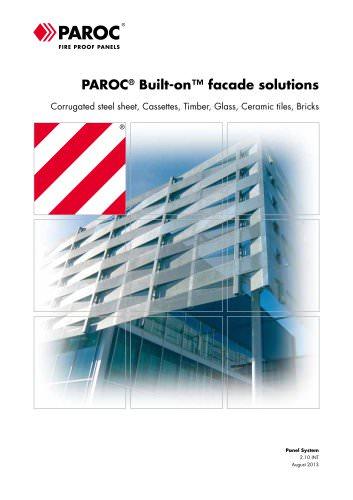 PAROC Built-on solution for PAROC sandwich panel facades with additional cladding