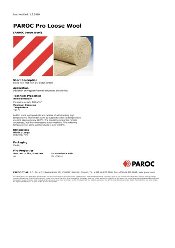 PAROC Pro Loose Wool