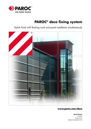 SANDWICH PANELS:paroc deco fixing system