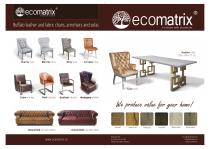 Buffalo leather and fabric chairs, armchairs and sofas