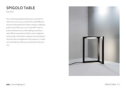 SPIGOLO TABLE
