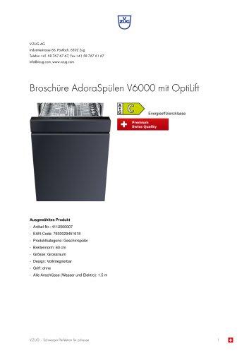 Broschüre AdoraSpülen V6000 mit OptiLift