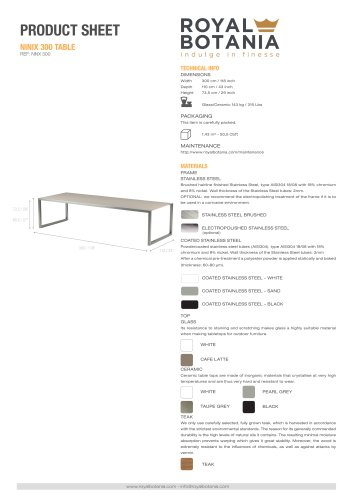 NINIX 300 TABLE