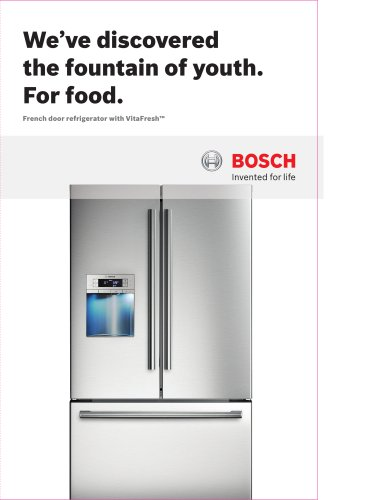 Freestanding French Door Refrigerator Brochure