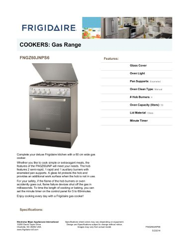 Cooktop Width: 60, Oven Clean Type: Manual