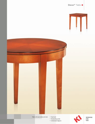 Devon Table Brochure