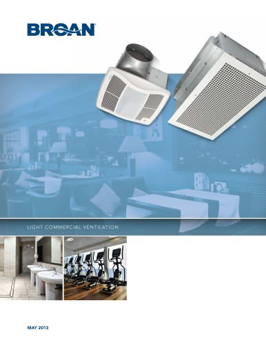 BROAN Light Commercial Ventilation Catalog