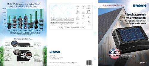 BROAN Solar Powered  Attic Ventilators Catalog