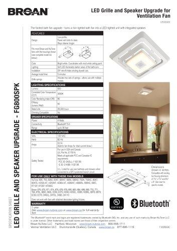LED GRILLE AND SPEAKER UPGRADE - FG800SPK