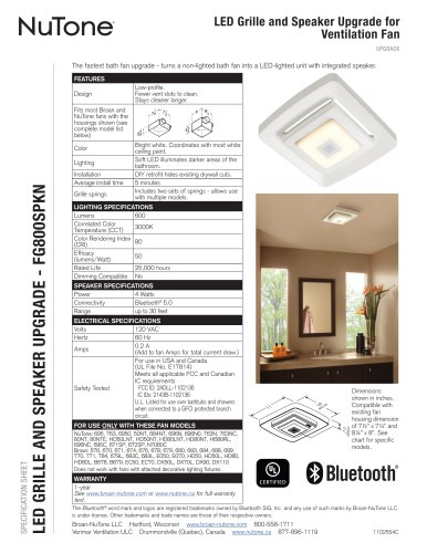 LED GRILLE AND SPEAKER UPGRADE - FG800SPKN
