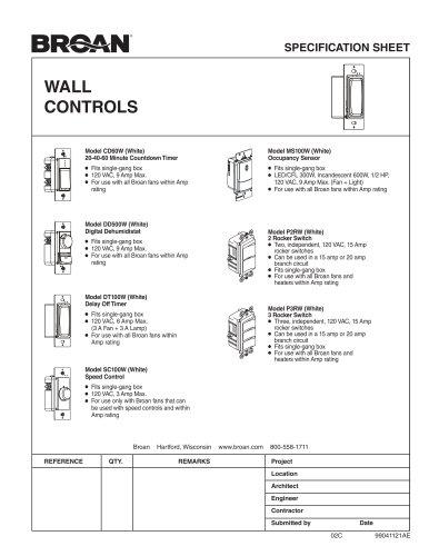 WALL CONTROLS